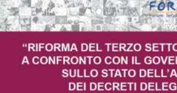 Per il Forum del terzo settore la riforma è già ai decreti delegati